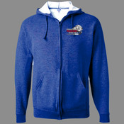 Logo - 993 Jerzees Adult 8oz. NuBlend® 50/50 Full-Zip Hood